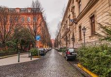 Vista da rua de Reviczky em Budapest, Hungria Fotos de Stock