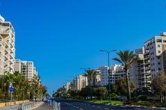 Vista da rua de Tel Aviv fotos de stock