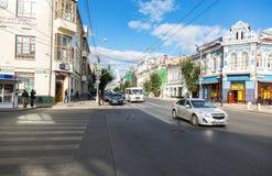 Vista da rua do Samara em um dia ensolarado do verão Imagens de Stock