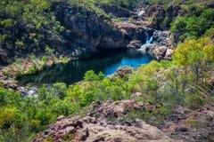 Vista da sopra all'allerta di Bernang, Edith Falls, Australia Fotografie Stock