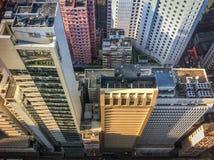 Vista da sopra dei grattacieli di Hong Kong Fotografia Stock