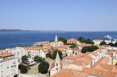 Vista da sopra della Dalmazia zadar Croazia Europa Immagini Stock Libere da Diritti