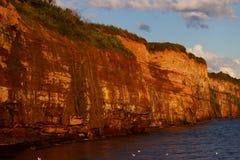 Vista da terra vermelha de Caplan Fotos de Stock Royalty Free