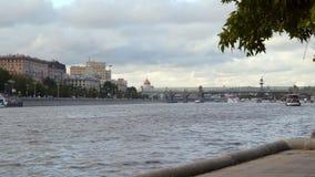 Vista da terraplenagem ao rio de Moscou Fotografia de Stock
