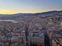 Genoa Landscape From Terrazza Colombo Stock Image Image Of