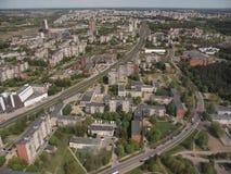 Vista da torre da tevê de Vilnius (Lituânia) Fotos de Stock