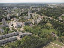 Vista da torre da tevê de Vilnius (Lituânia) Foto de Stock
