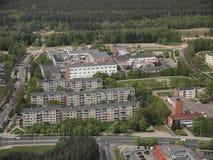 Vista da torre da tevê de Vilnius (Lituânia) Imagem de Stock