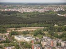Vista da torre da tevê de Vilnius (Lituânia) Fotografia de Stock Royalty Free