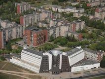 Vista da torre da tevê de Vilnius (Lituânia) Imagens de Stock Royalty Free