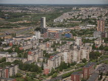 Vista da torre da tevê de Vilnius (Lituânia) Fotos de Stock Royalty Free