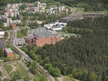 Vista da torre da tevê de Vilnius (Lituânia) Imagem de Stock Royalty Free