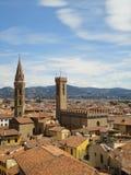 Vista da torre de Bargello, Florence Italy Imagem de Stock