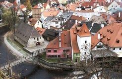 Vista da torre de Cesky Krumlov Fotografia de Stock Royalty Free