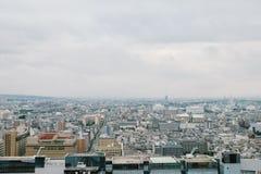 Vista da torre de Kyoto em Kyoto, Japão Foto de Stock Royalty Free