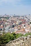 Vista da torre do elevador de Santa Justa em Lisboa. imagem de stock royalty free
