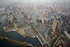 Vista da torre do marco, Yokohama, Japão Fotos de Stock Royalty Free