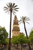 Vista da torre do mesquita em Córdova Imagens de Stock