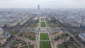Vista da torre Eiffel Fotos de Stock Royalty Free