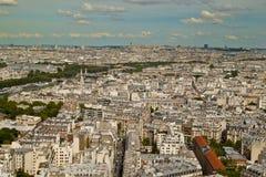 Vista da torre Eiffel Imagem de Stock