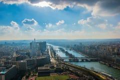 Vista da torre Eiffel imagens de stock royalty free