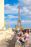 Vista da torre Eiffel do palácio de Chaillot em Paris Imagem de Stock