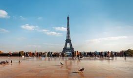 Vista da torre Eiffel do Trocadero fotografia de stock royalty free