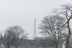EIFFEL TOWER WITH FOG Stock Image