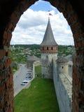 Vista da torre da fortaleza foto de stock