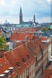 A vista da torre redonda em Copenhaga Fotografia de Stock Royalty Free