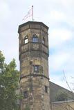 Vista da torre St Martin na água de Colônia Alemanha Imagem de Stock