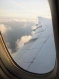 Vista da un aereo Fotografie Stock