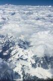Vista da un aereo, alpi Fotografia Stock