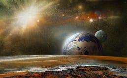 Vista da un altro pianeta Fotografia Stock