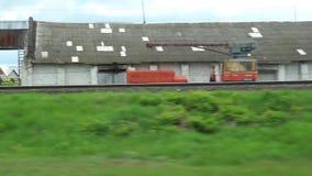 Vista da un'automobile, bus, treno della finestra Video di viaggio di HD video d archivio