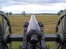 Vista da un cannone di Gettysburg Fotografie Stock