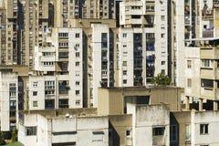 Vista da un edificio alto nella parte residenziale di Belgrado, Serbia fotografia stock