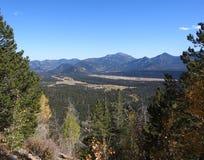 Vista da un fianco di una montagna in Colorado Immagine Stock Libera da Diritti