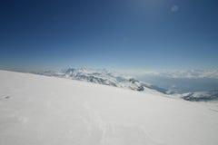 Vista da un ghiacciaio Immagini Stock