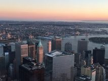 Vista da un World Trade Center in New York Fotografia Stock