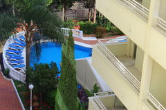 Vista da una camera di albergo Immagine Stock