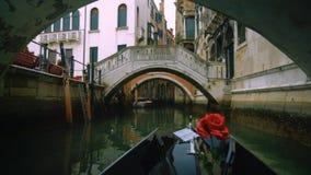 Vista da una gondola in canale