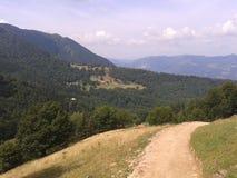 Vista da una montagna di estate Fotografie Stock Libere da Diritti