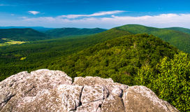 Vista da una scogliera su grande Schloss, in George Washington National Forest Fotografie Stock