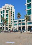 Vista da una spiaggia a Tel Aviv Fotografia Stock Libera da Diritti