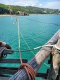 Vista da una vecchia barca Fotografia Stock Libera da Diritti