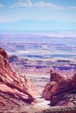 Vista da uno stato all'altro sorprendente del passaggio di 70 Wolf Canyon Fotografia Stock Libera da Diritti