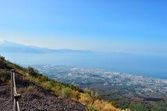 Vista da Vesuvio immagini stock libere da diritti