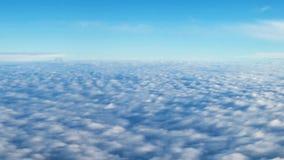 Vista da vigia ao campo de nuvens brilhantes vídeos de arquivo