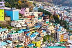 Vista da vila da cultura de Gamcheon, Busan, Coreia do Sul imagem de stock royalty free